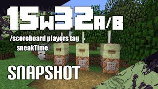Minecraft - Snapshot - 15w32a/b/c - TAGY, ÚPRAVA MENU SE SVĚTY, VYUŽITÍ PRO HLAVY MOBŮ.. (CZ/FullHD)