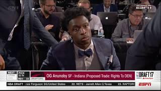 2017 NBA Draft: Toronto Raptors Select OG Anunoby