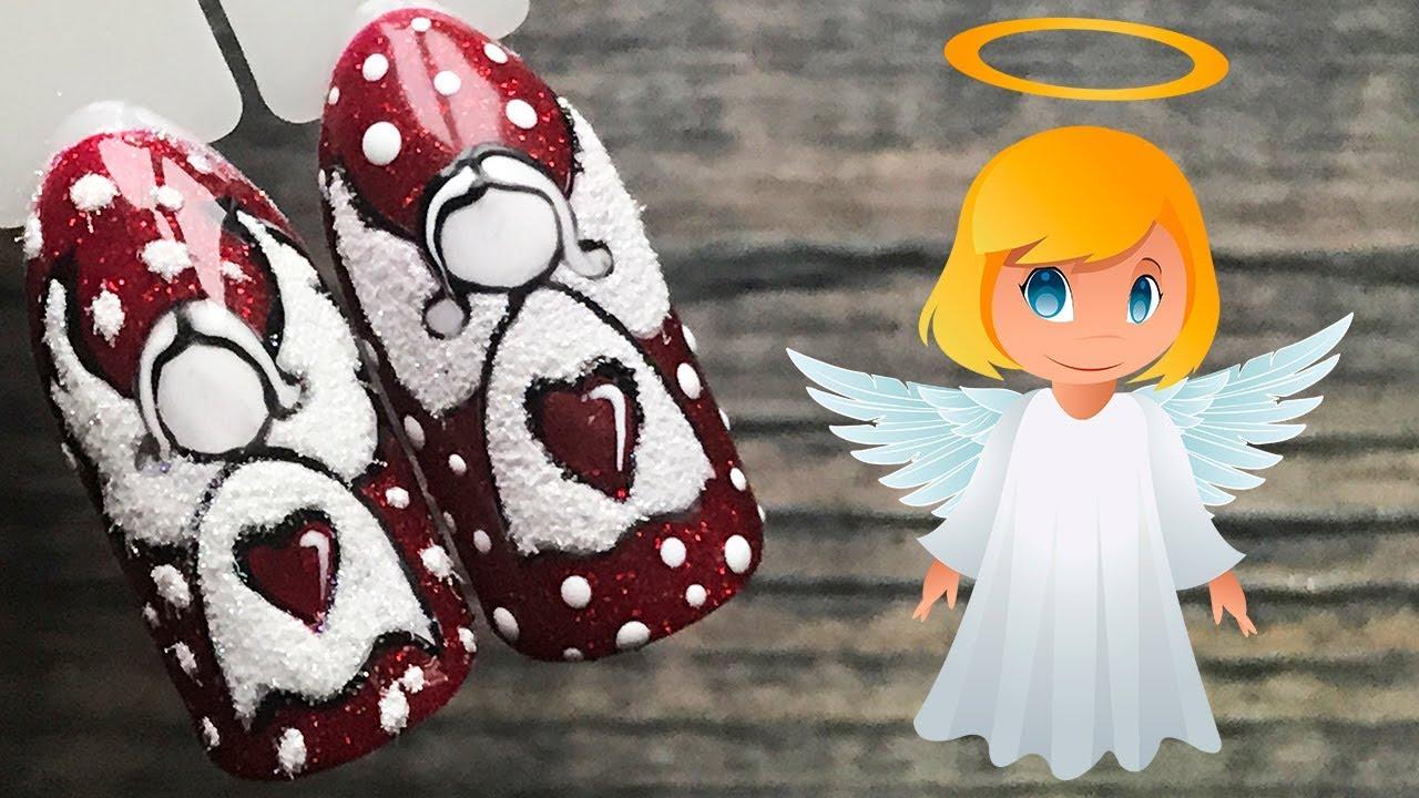 подключение ангел на ногтях фото вам