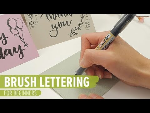 Brush Lettering For Beginners Youtube