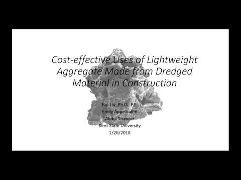 Cost-effective Uses of Lightweight Aggregate Made from Dredged Material in Construction