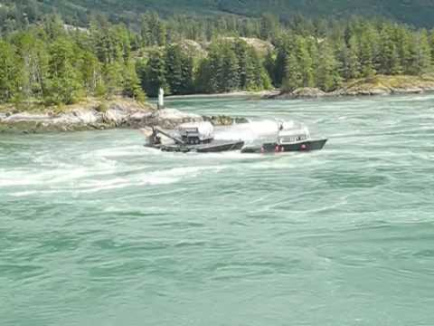 Sechelt Rapids - Tug And Barge