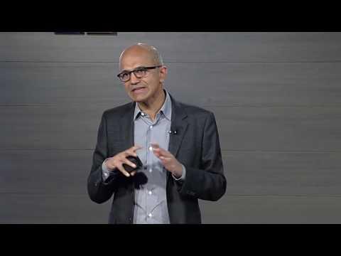 Microsoft Business Forward 2017 keynote   Satya Nadella on the vision for digital transformation