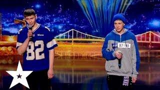 Дуэт Артифессо и Ты Под Чем читают рэп Україна має талант 6 Кастинг в Харькове
