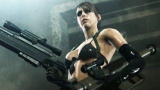 Metal Gear Solid V: The Phantom Pain - Quiet I - Attempted Rape/Badass fight scene 60fps - sub ESP