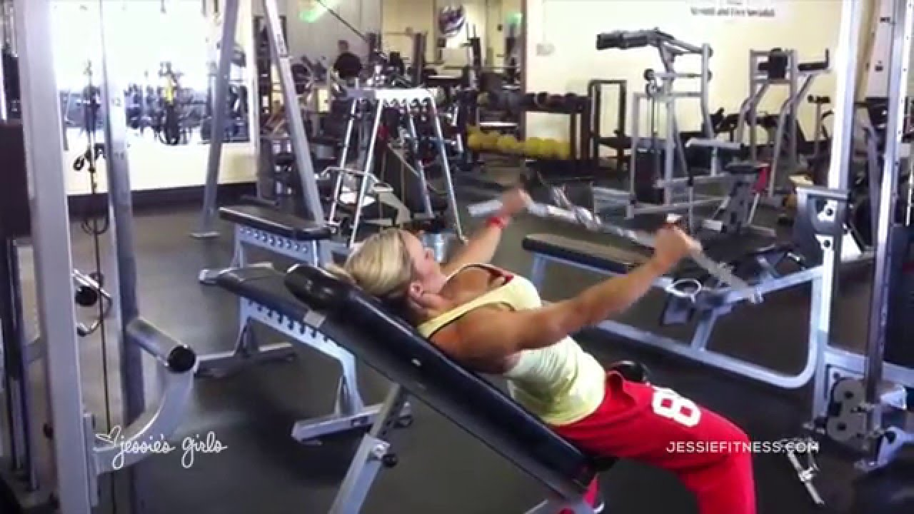 Jessie's Girls Training Programs: Incline Bench Cable Pullover ...