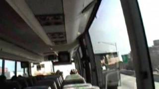 Hampton Jitney Bus Ride - New York City To Greenport, Long Island (JVC DVR CAMCORDER) - March 2008