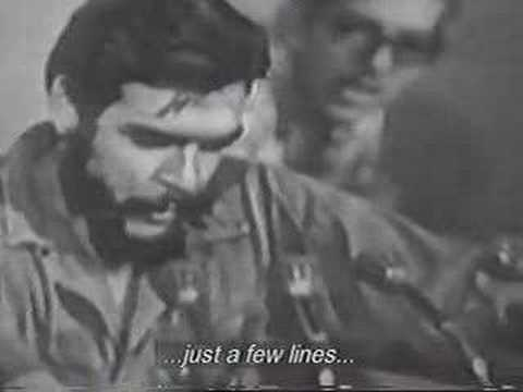 Che Guevara Poem. Translated
