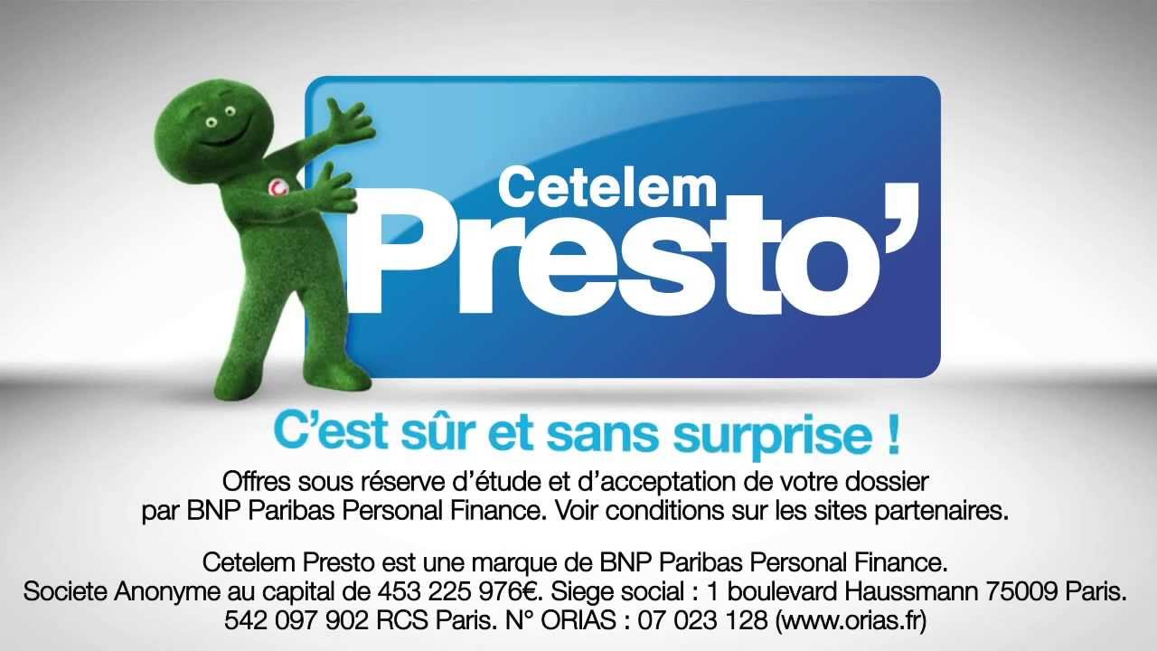 Cetelem But Cetelem Presto - Youtube