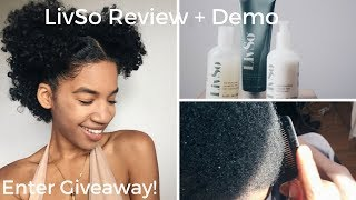 Dandruff? Dry Natural Hair? Itchy, Flakey Scalp? | LivSo Demo + Review