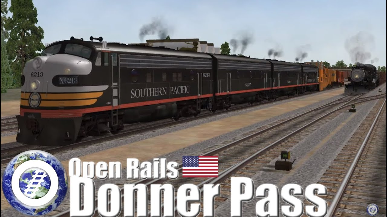 MSTS Open Rails Southern Pacific @ Donner Pass by World of Open Rails