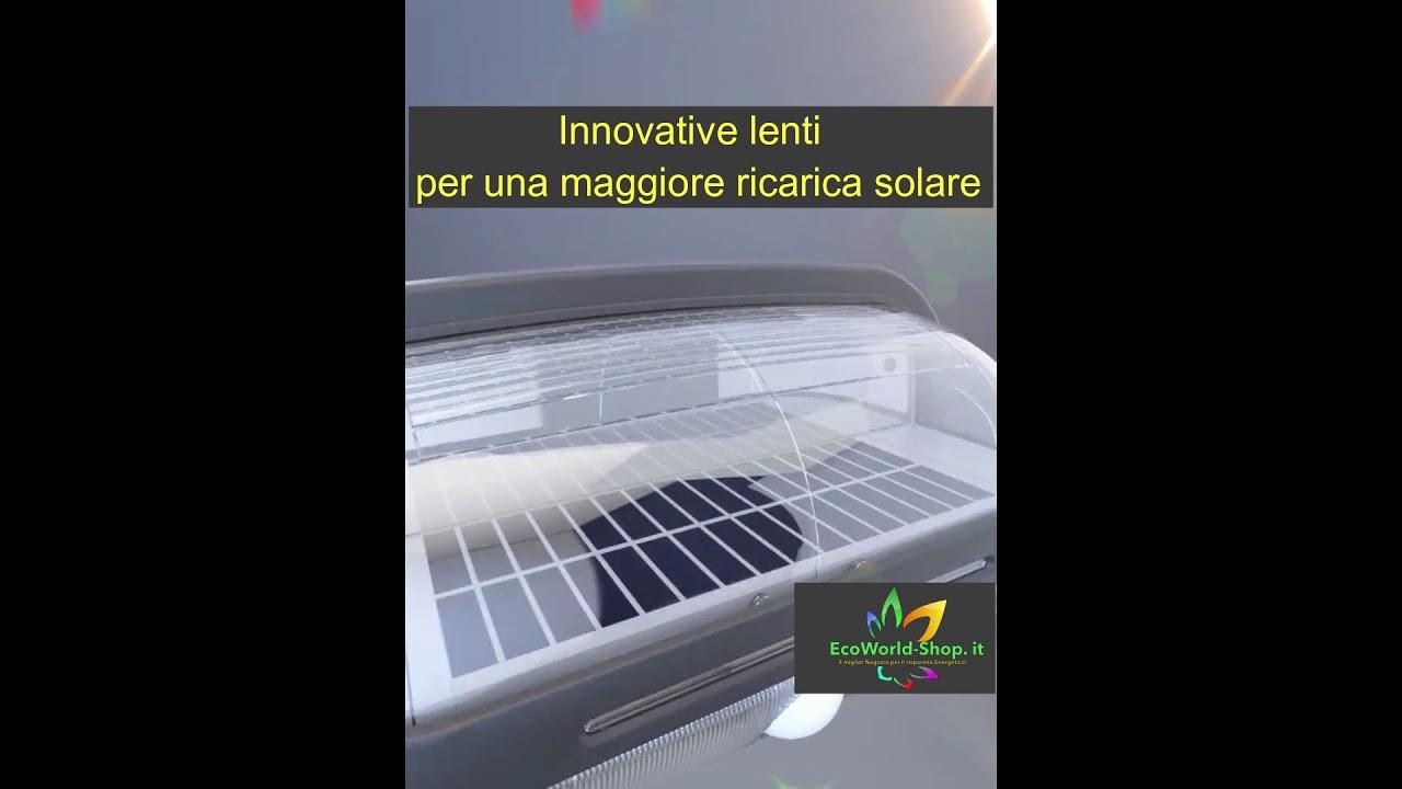 Lampada applique solare da giardino per esterno ad energia solare
