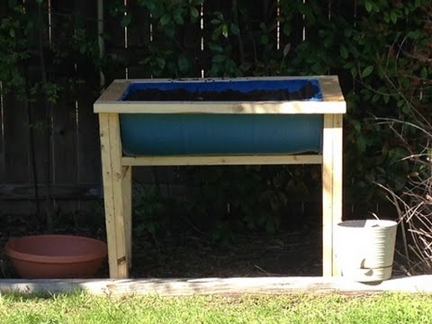HOW TO BUILD RAISED GARDEN CONTAINERS   NO BENDING