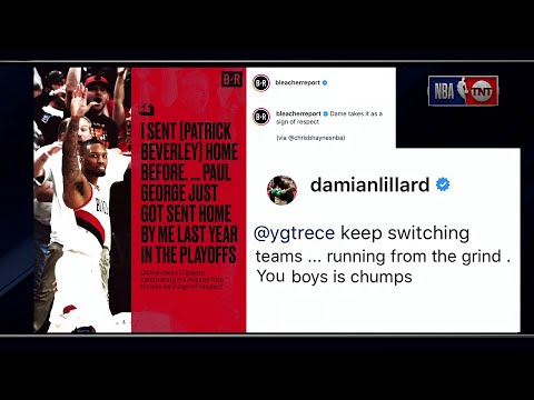 Damian Lillard & Paul George Take Feud to Social media | Inside the NBA