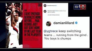 Damian Lillard & Paul George Take Feud to Social media | Inside the NBA