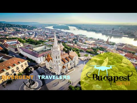 DJI Phantom Aerial Views Of Budapest Hungary. St. Stephen's Basilica and Matthias Church