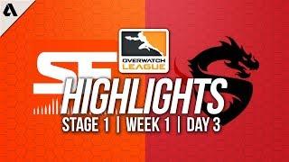San Francisco Shock vs Shanghai Dragons ft Danteh | Overwatch League Highlights OWL Week 1 Day 3