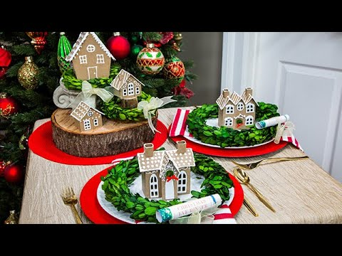DIY Gingerbread House Place Settings - Home & Family