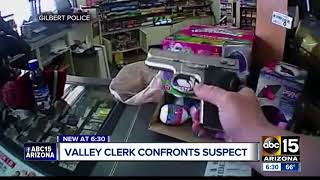 Surveillance video shows 7-Eleven clerk shoot suspect during attempted robbery