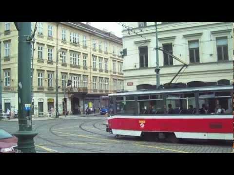 Tramvajová doprava v Praze - 40 minutes of trams in Prague, Czech Republic