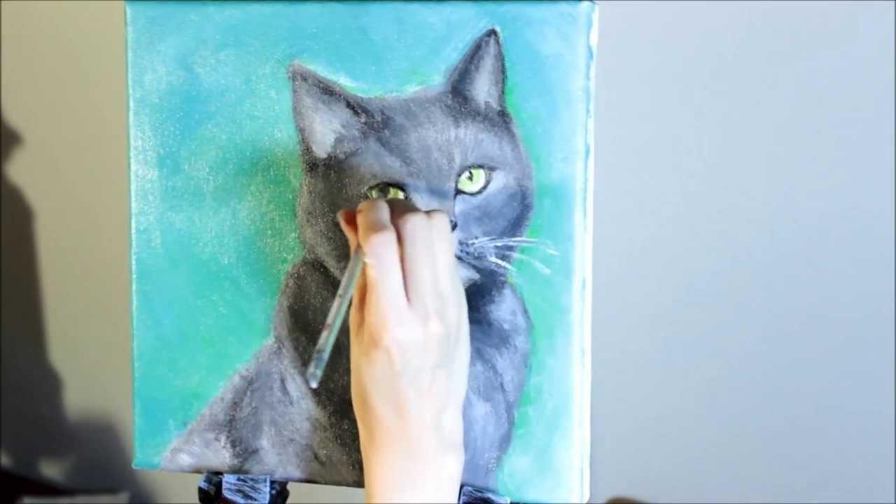 Acrylic Speed Painting Cat Furby Youtube