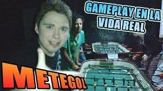 GAMEPLAY EN LA VIDA REAL: METEGOL / FUTBOLITO / TACA TACA / FUTBOLIN