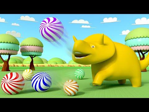 Download Youtube: Ucz się Kolorów i Numerów - Dino bawi się kuleczkami 👶 Bajki Edukacyjne dla Dzieci