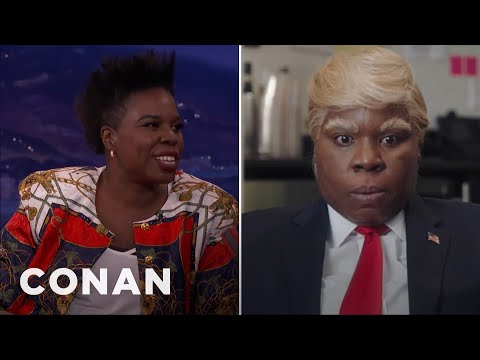 "How Leslie Jones Wound Up Playing Trump On ""SNL""  - CONAN on TBS"