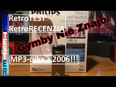 Philips GoGear- Retro Test & Review of MP3 Player from 2006!!!