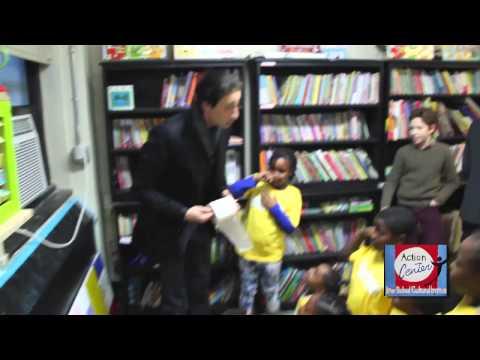 Bulgari Ambassador Adrien Brody visits The Action Center