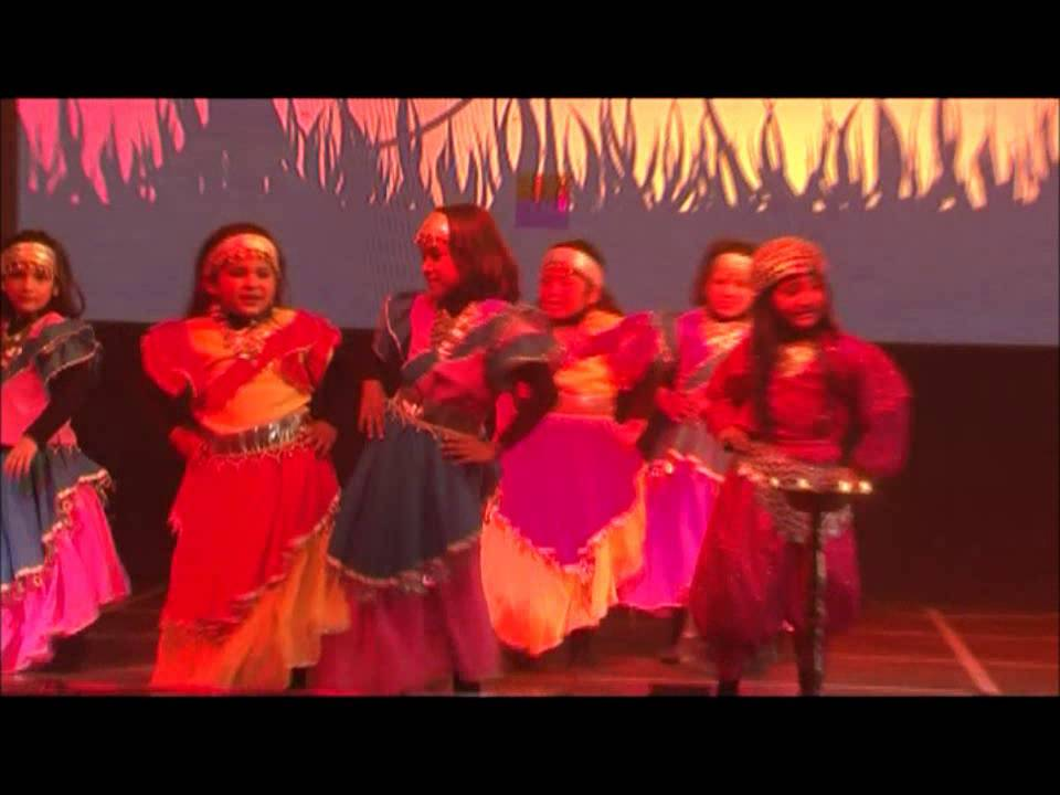 GIIS Noida students performing dance sequence on Ali Baba and 40 Thieves theme.