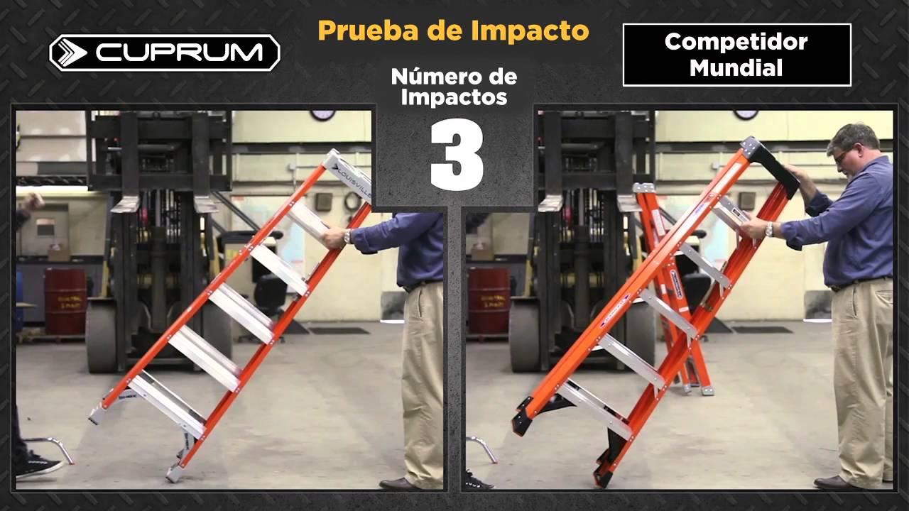 ¿Da lo mismo la marca de la escalera? ponemos a prueba la escalera Cuprum vs la competencia
