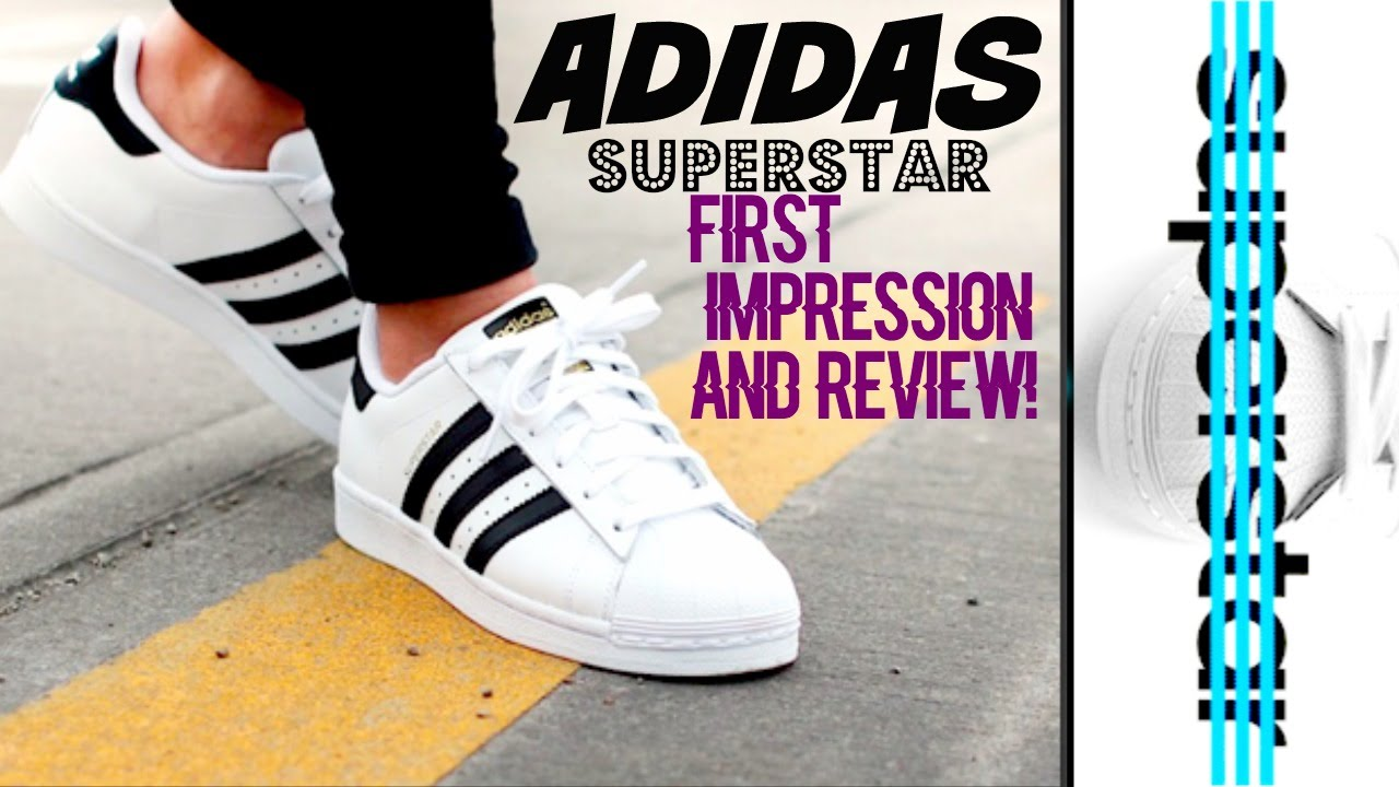 more photos 6a7f9 acac9 ADIDAS SUPERSTAR SHOES REVIEW!!! - YouTube