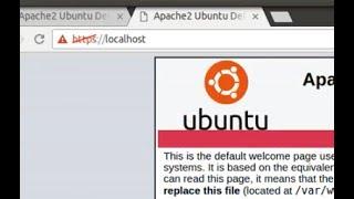 Create https localhost (ssl) on ubuntu 16.04