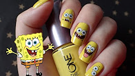 Nail Art | Spongebob water stickers