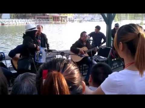Grass root street artists singing at Beihai Park