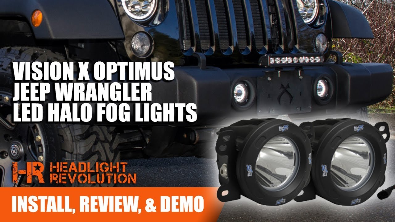 Jk Fog Light Wiring Diagram Wrangler Lights To Headlights Schematics Diagrams Vision X Optimus Jeep Led Kit Demo And Install Rh Youtube Com F250 Victory Driving