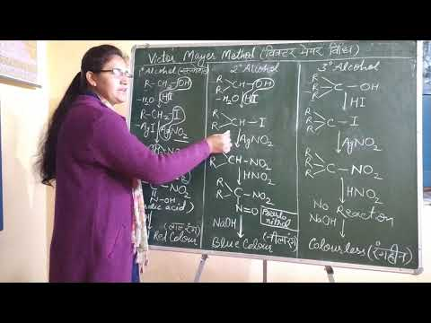 Victor Mayer Method To Distinguishing Primary Secondary And Tertiary Alcohols In Hindi