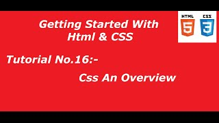 Code Beginners| Tutorial No.16 # Css An Overview
