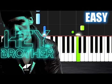 Avicii - Hey Brother - EASY Piano Tutorial by PlutaX - Synthesia
