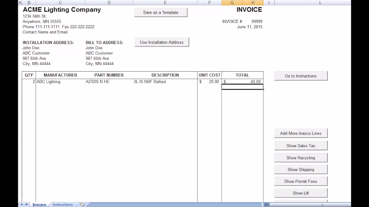 How To Fill Out An Invoice Youtube