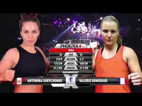 Antonina Shevchenko vs Valerie Domergue Full Fight (MMA) | Phoenix 4 Dubai | December 22nd 2017.
