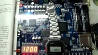 real time clock rtc in vhdl altera de1 board