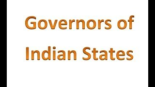 Current Affairs / GK Booster 2018 - Governors of Indian states