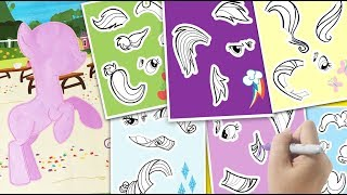 Create a pony MLP sticker activity book My little pony coloring for kids