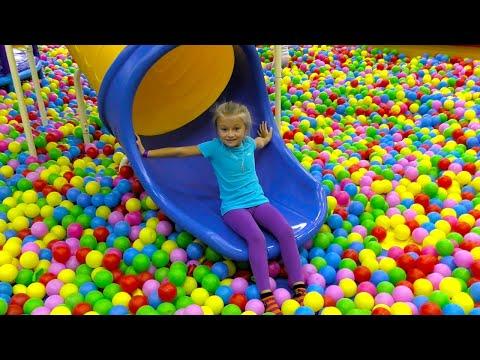 МОЙ АКТИВНЫЙ ДЕНЬ Скалодром, Батуты, Горки в Парке Развлечений для Детей! Indoor Playground