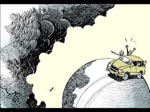 GLOBAL WARMING  Animated Editorial Cartoon