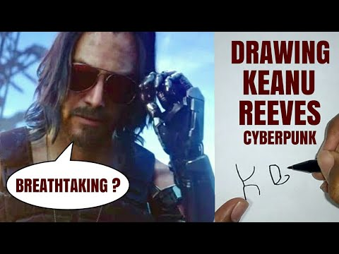 HOW TO DRAW KEANU REEVES FROM CYBERPUNK 2077