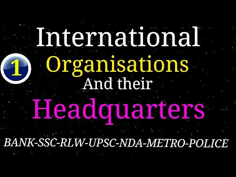 MCQ of International Organisation and Headquarters | International Organisation and its headquarters