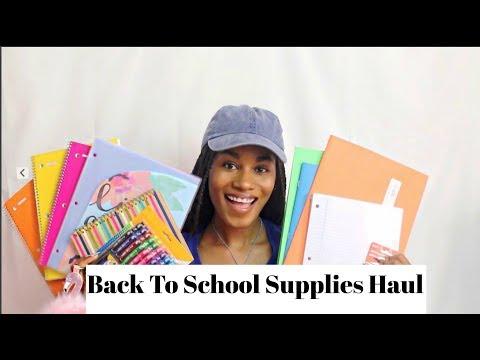 BACK TO SCHOOL SUPPLIES HAUL 2017